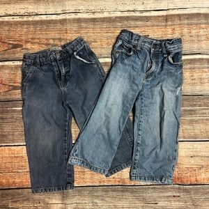 Lot of 2 Children's Palace jeans, sz 24 mths